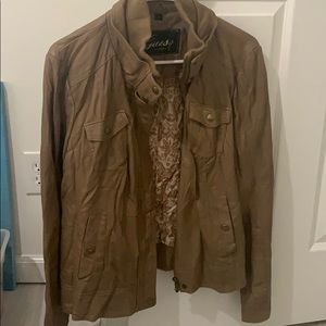 Guess brand leather jacket